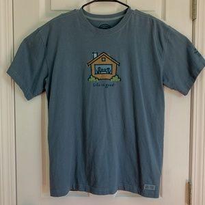 Life is Good Blue T-Shirt Size Medium
